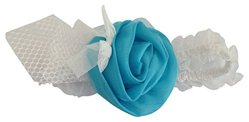 NeedyBee Newborn/Toddler Blue Headband/Hair band/Hair Accessory with Flower(Kids Hair Accessories)