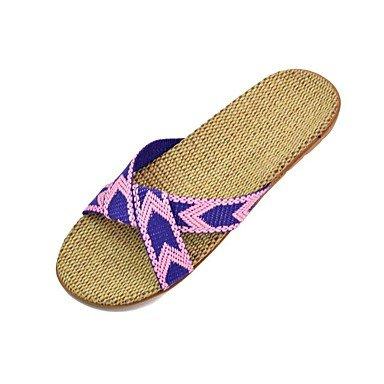LQXZM Unisex Hausschuhe &Amp; Flip-Flops Sommer Slingback Polyester Casual flachem Absatz Lila Fuchsia Braun Blau Purple