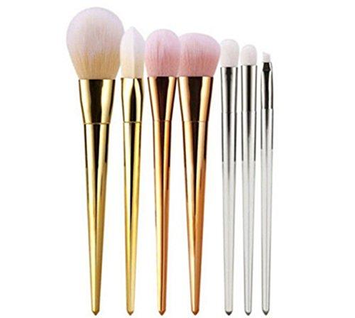 Drawihi Kit Pinceau Maquillage Brosse de Maquillage de Mode Visage Eyeliner Foundation Brush outil 7 Pcs