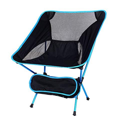 AGLZWY Chaise Pliante Multifonction Épaissir Tube en Aluminium Respirant Gaze De Maille Portable De Plein Air Fauteuil Chaise De Lune, 4 Couleurs, 53X35X67cm (Color : Blue, Size : 53X35X67cm)