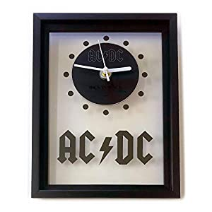 AC/DC – Back In Black: GERAHMTE CD-WANDUHR/Exklusives Design