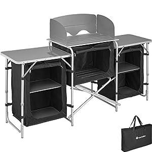 TecTake 800747 Outdoor Camping Küche – Diverse Modelle wähblar –
