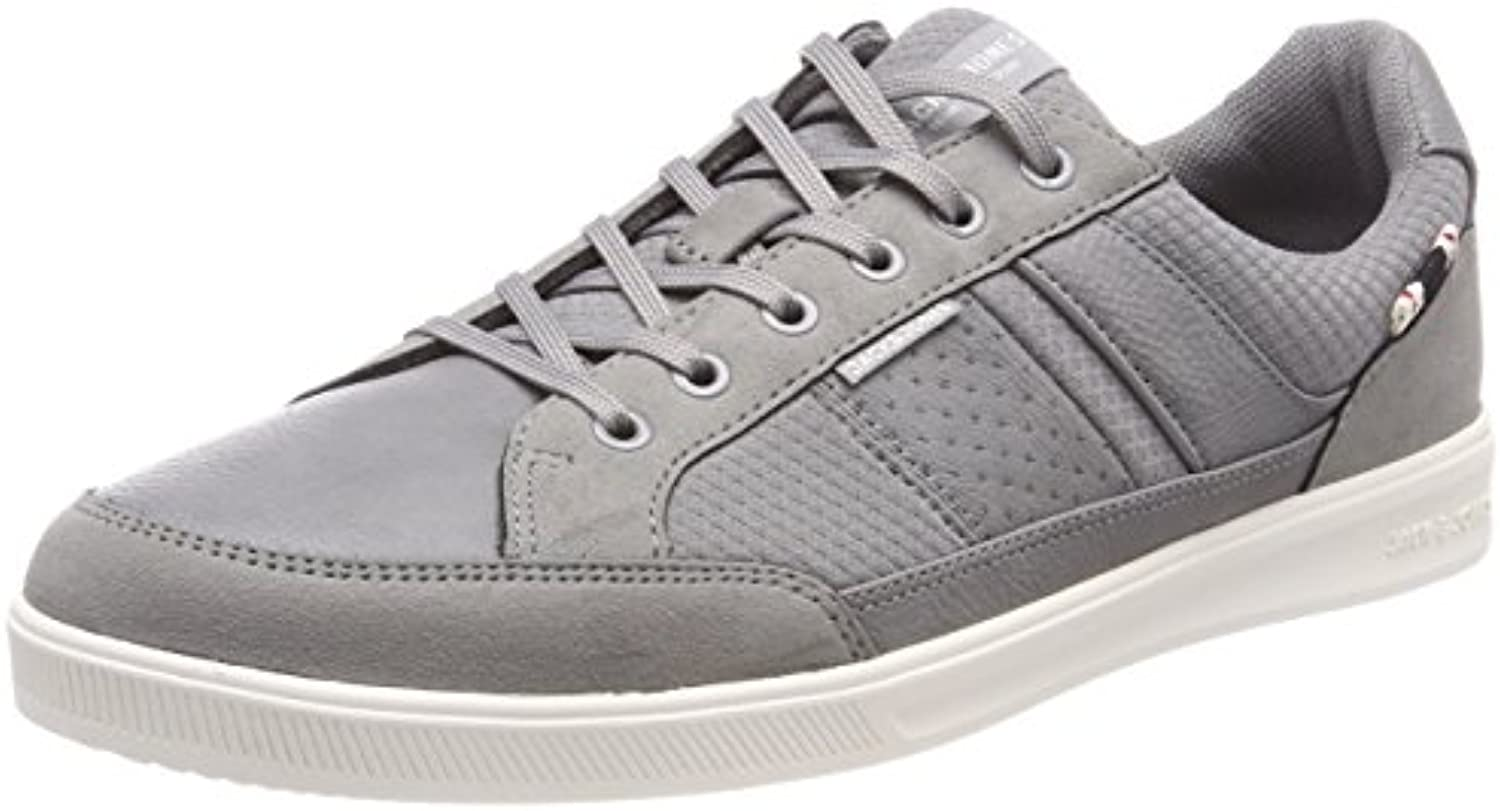 JACK  JONES Herren Jfwrayne Mesh Mix Frost Grey Sneaker