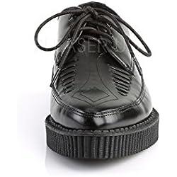 Creeper-712 a basso plateau Oxford nero scarpa da uomo con il naso a punta - (UE 45 = US 12) - Demonia