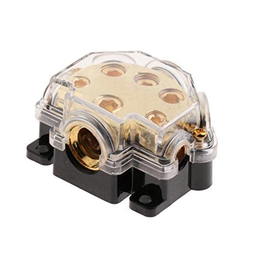 Baoblaze Auto LKW Audio Stereo Verstärker Power Ground Wire Splitter Verteilerblock 1 Eingang 5 Ausgang (Ground Distribution Block)