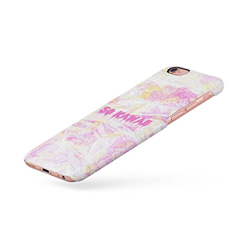Ocean Waves Alien Emoji Dünne Rückschale aus Hartplastik für iPhone 6 Plus & iPhone 6s Plus Handy Hülle Schutzhülle Slim Fit Case cover Leaking Kawaii
