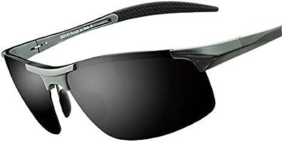 Duco Herren Sportbrille Polarisierte Sonnenbrille Fahrerbrille 8177S