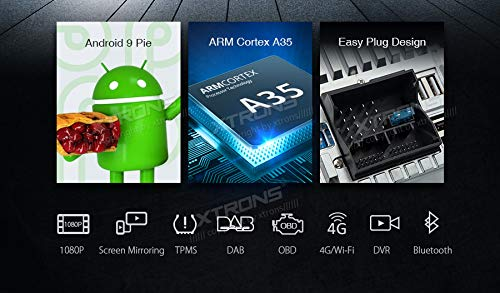 XTRONS-7-Autoradio-mit-Touch-Screen-Android-90-Quad-Core-DVD-Player-Autostereo-untersttzt-4G-WiFi-Bluetooth50-PlugPlay-Auto-Musik-Streaming-2GB-16GB-DAB-OBD2-FR-Audi-A3S3RS3