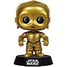 FUNKO Pop! Star Wars: C-3PO Collectible figure Star Wars - action figures & collectibles (Collectible figure, Dibujos animados, Star Wars, Negro, Oro, Vinilo, Caja) - Figura Star Wars Funko C3PO (10cm)