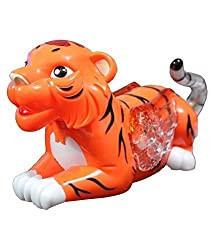 A M Enterprises Plastic Tiger Musical Toy,Orange