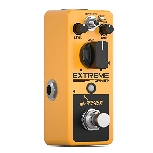 Donner Extreme Driver Distortion Gitarre Effektpedal Analog True Bypass