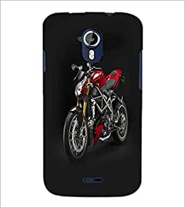 PRINTSWAG RED BIKE Designer Back Cover Case for MICROMAX A116 CANVAS HD