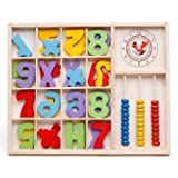 Blossom Wooden Computation Study Box & Abacus for Basic Math Calculations for Children Ages 3+ Years