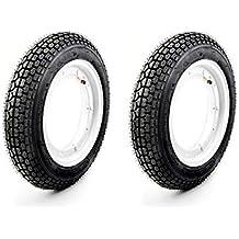Schlauch f/ür Vespa PK 50 125 XL Roller Reifen Satz K303A 3.00-10 42J inkl