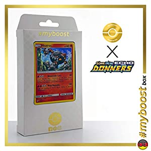 Heatran 48/214 Holo - #myboost X Sonne & Mond 8 Echo Des Donners - Box de 10 Cartas Pokémon Alemán