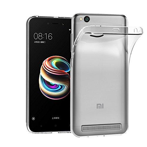 ivoler Funda Carcasa Gel Transparente para Xiaomi Redmi 5A, Ultra Fina 0,33mm, Silicona TPU de Alta Resistencia y Flexibilidad