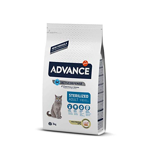 Advance Adult Sterilized - Pienso para Gatos Adultos esterilizados con Pavo y Cebada - 3 kg
