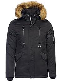 Herren Winterjacke WASSERDICHT LANG Parka Fell Kapuze Alaska WARM GEFÜTTERT b893879198