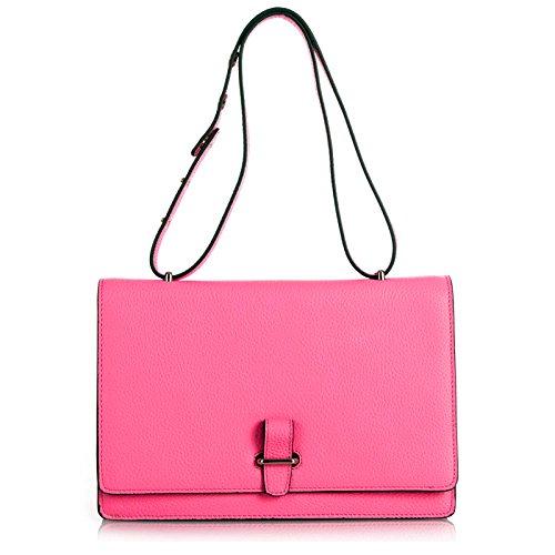 Sale / Rouven / Estelle 30 Tote Bag / Confetti Pink Rosa / Damen Leder Tasche Schultertasche Umhängetasche Crossbody Clutch / medium / chic modern sportlich / 30x21x8cm