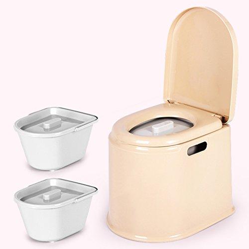LI JING SHOP - Tragbarer Toilettenstuhl Alter Mann mit schwangerem Frauen-Kind-beweglichem Plastik nehmen einen Schemel ( Farbe : Braun , größe : #-001 )