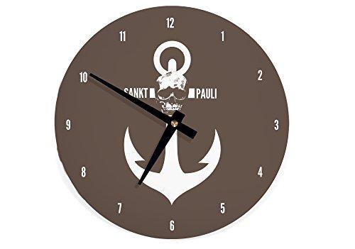 Wanduhr Uhr Sankt Pauli Hamburg WU015 (braun) st pauli