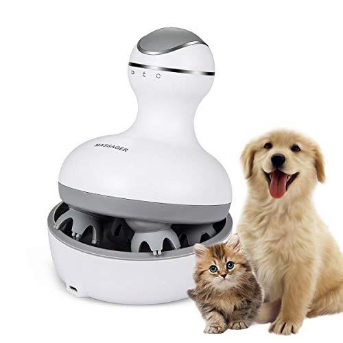 Awxlumv Elektrisches Massagegerät für Katzen, zum Selbermassieren, wasserfest, zum Kitzeln, wiederaufladbar, weiches Massagegerät für Kätzchen, Welpen und Menschen
