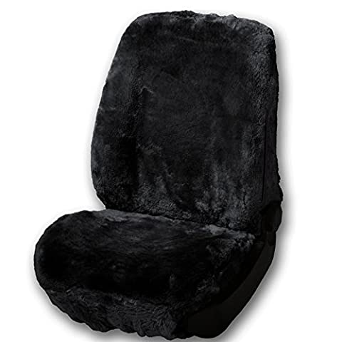 WOLTU AS7335sz Luxury Lambskin Wool Fleece Car Seat Cover Cushion Sheepskin Car Seat Cover for Decoration and Warm in Winter Front Seat Cover ca.1.8cm thick,