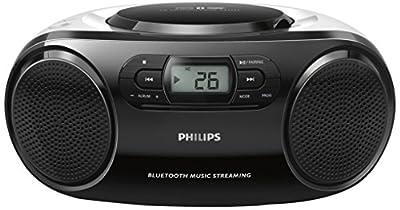 Philips AZ330T Lecteur CD/R/RW/MP3 portable avec Bluetooth, port USB, entrée audio, Noir par Philips