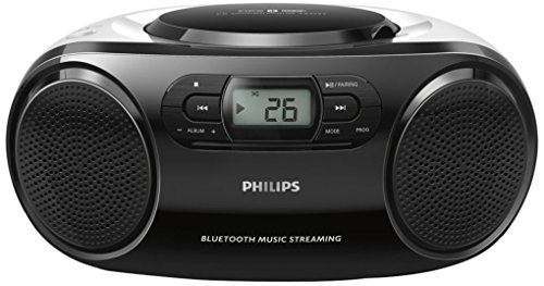 Philips AZ330T CD-Radiorekorder mit Bluetooth (CD-MP3) schwarz