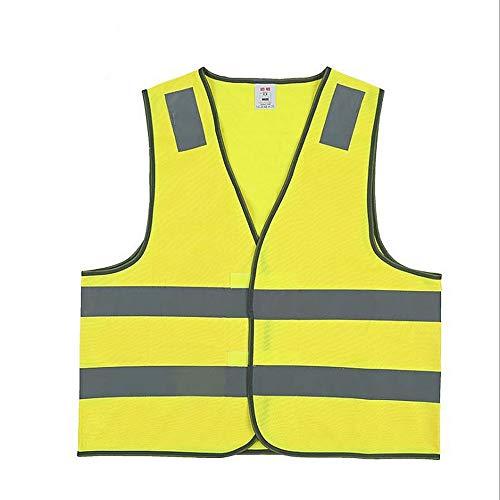 Reflektierende Westen Herren Warnweste Warnweste Warnweste mit Reflexstreifen Gelb Wasserdichte Regenjacke