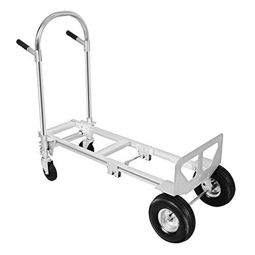 BuoQua 350KG Sackkarren 2 IN 1 Aluminium Treppenrutsche Klappbar Transportkarre Mit Kunststoff Rädern Stapelkarre