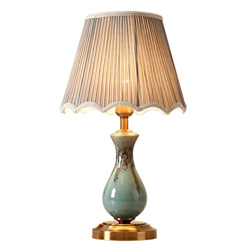 Lámpara de noche dormitorio,Simple,Cerámica,Lámpara de sobremesa pequeña,Conveniente para la,Dormitorio,Estudio,Sala de estar,Creativo,Cálido,Lámpara escritorio-A 50x30cm(20x12inch)
