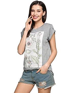 Befied Mujeres Camisetas de la Manga Corta Y Cuello Redondo de Verano, Blusa Casual con Diseño Básica de Algodón