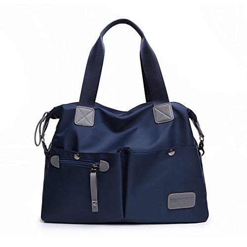 Bcony moda Bolsos bandolera para mujer, Azul marino nylon Bolsillos múltiples gran capacidad Bolsos...
