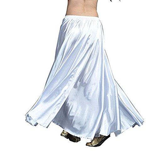 YouPue Damen Tanzkostüm Bauchtanz-Kostüm sexy High-End-Dual Rock Bauchtanz Leistungen große Rock Komfort (nicht enthalten Gürtel) Gürtel Kostüme Bauchtanz Taille Kette Weiß (Weiß Und Gold Bauchtanz Kostüm)