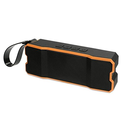 Bluetooth-Lautsprecher Drahtloser Freien wasserdichter Lautsprecher Subwoofer im Freien Computer Lautsprecher 5w Lautsprecher Karte 3D Surround Sound, Orange