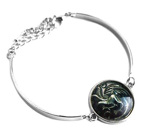 Beaux Bijoux Game Of Thrones inspiriert Dragon Dome Glas Armband - hochwertige Zubehör - Runde Glas Armband in Geschenkbox Dome-gläser