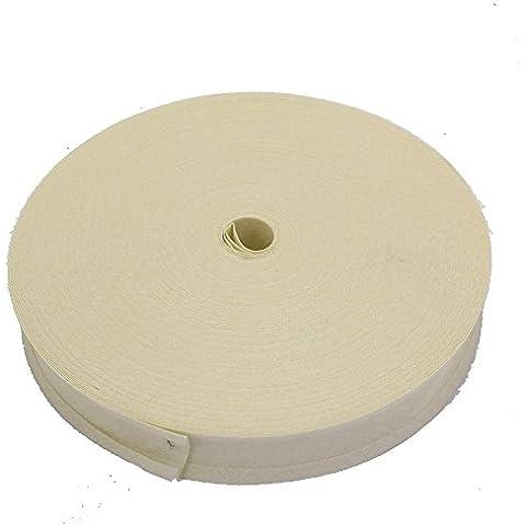 16mm sbieco nastro trim 100% cotone panna–5m