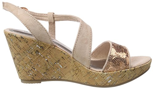 Marco Tozzi 28315, Sandales Bout ouvert femme Rose (Rose Comb 596)