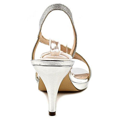 Nina Nelda Damen Synthetik Sandale Silver Glitter