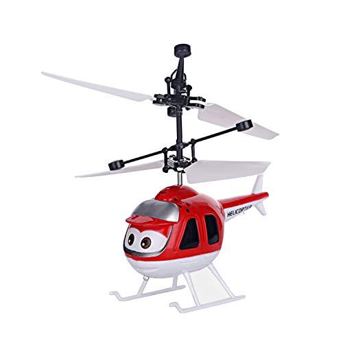 Chirde Hubschrauber Helikopter Drohne Flugzeug Kindspielzeug Fernsteuerungshubschrauber Spielzeug Geschenk für Kinder (Rot)