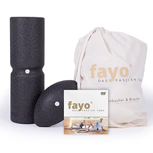 Liebscher & Bracht FAYO 2er-Set, Faszienrolle und Faszienball, ideal für Faszientraining und Selbstmassage, Set aus Kugelrolle und Massageball