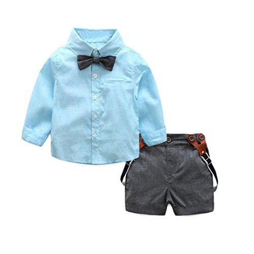 Ropa bebe, Culater Conjuntos de Trajes Niño 0~24 meses Camisas + Pantalones (18~24 M, Azul)