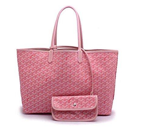 11926d7dba05 Rosvin Lady Shoulder Bag 2 Piece Tote Bag PU Leather Handbag Purse Bags Set  (Pink