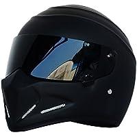 Casco de moto, casco Alien, casco integral, con visera, para Offroad,
