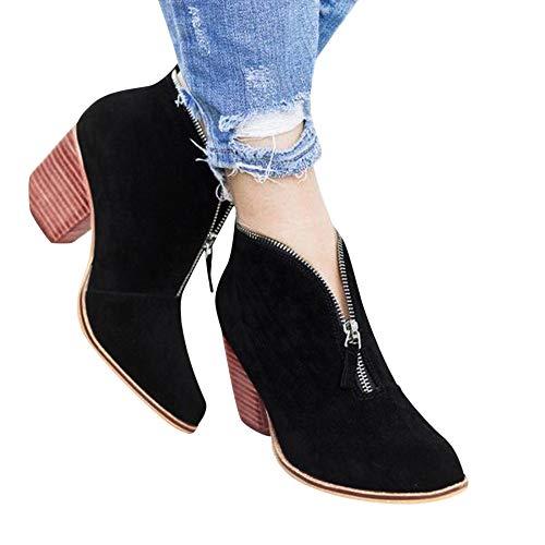 Selou Damenstiefel Stiefeletten Damenstiefel Spitz Stiefel Klassische Stiefeletten Freizeitschuhe Casual Boots Mode Einzelne Schuhe