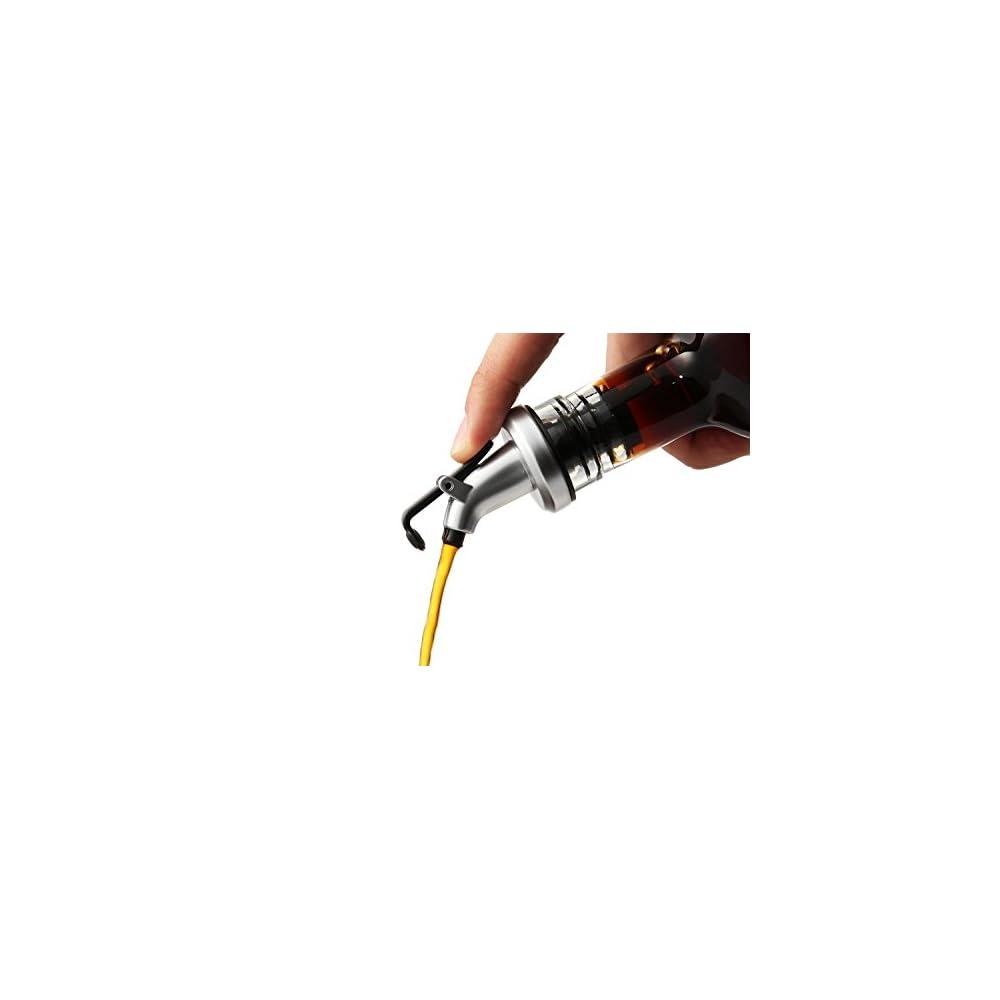 Flaschenausgieerdichtung Lecksicher L Ausgiesser Fr Flaschen Mit Chromkappe Und Silikonkorken 2 Stck