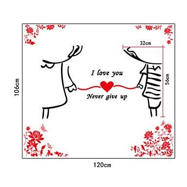 piteng- romantique Lover tenant les mains en PVC Stickers muraux