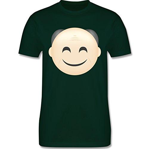 Opa - Opa Emoji - Herren Premium T-Shirt Dunkelgrün