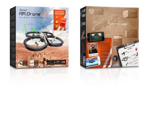 Parrot AR Drone 2.0 GPS Edition Quadrocopter (geeignet für Android/Apple Smartphones/Tablets) sand - 7